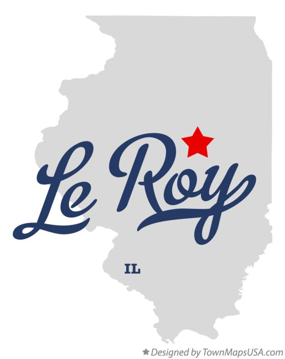 Map of Le Roy Illinois IL