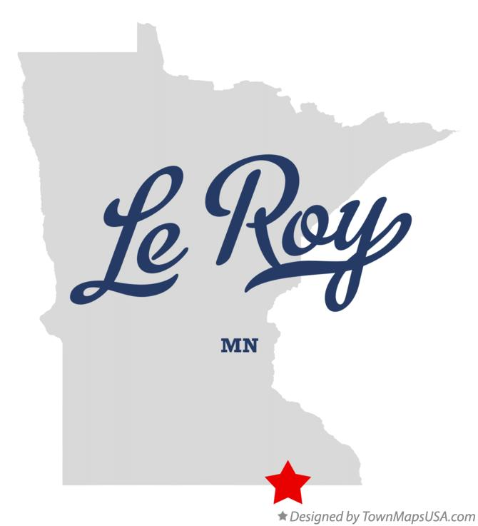 Map of Le Roy Minnesota MN