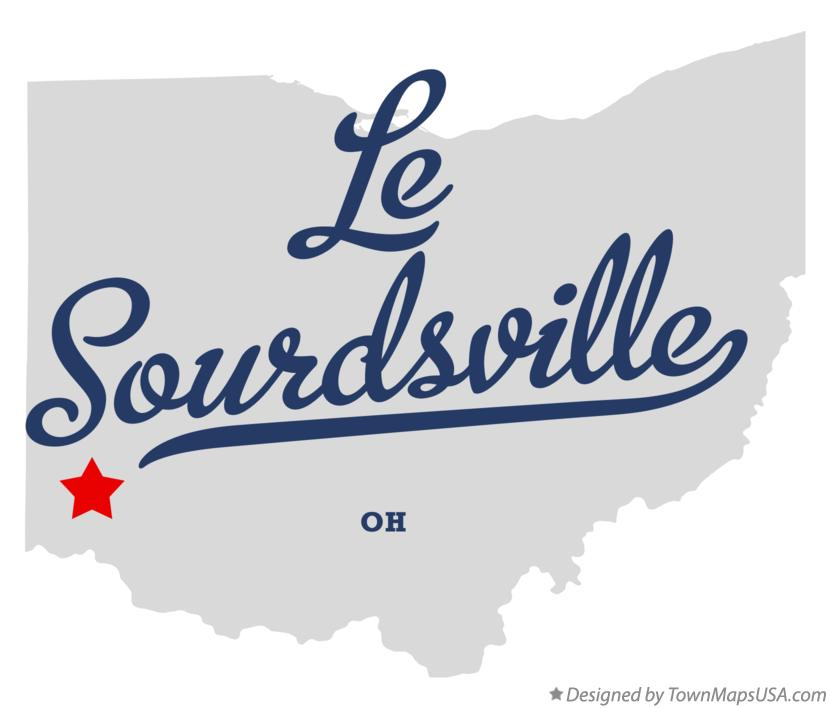 Map of Le Sourdsville Ohio OH