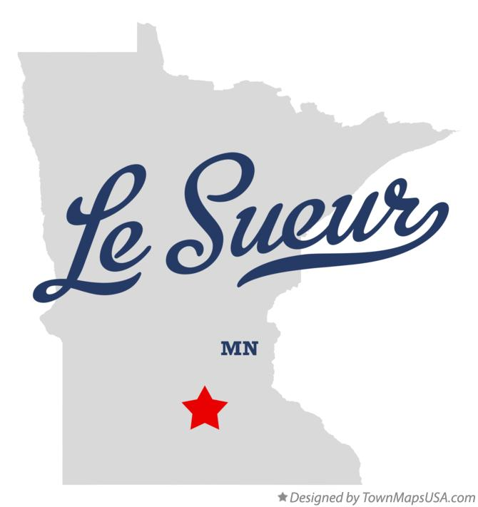 Map of Le Sueur Minnesota MN