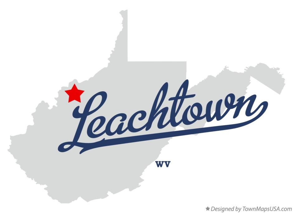 Map of Leachtown West Virginia WV