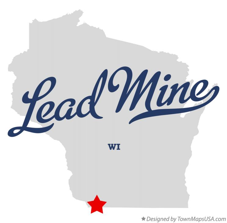 Map of Lead Mine Wisconsin WI