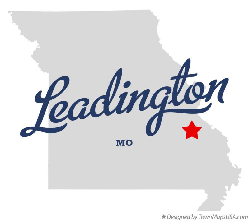 Map of Leadington Missouri MO