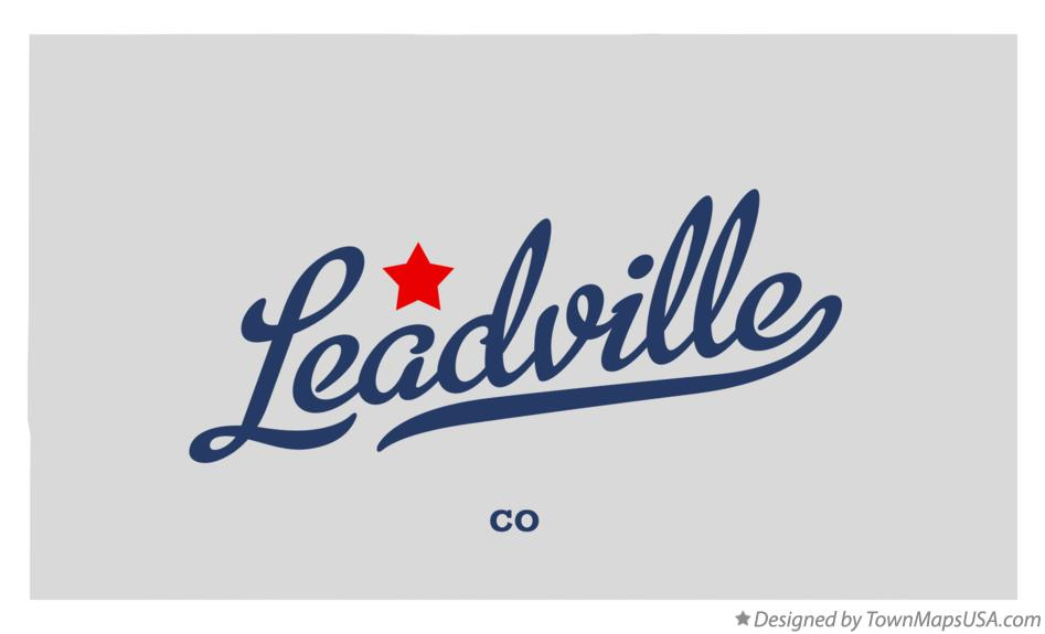 Map of Leadville Colorado CO