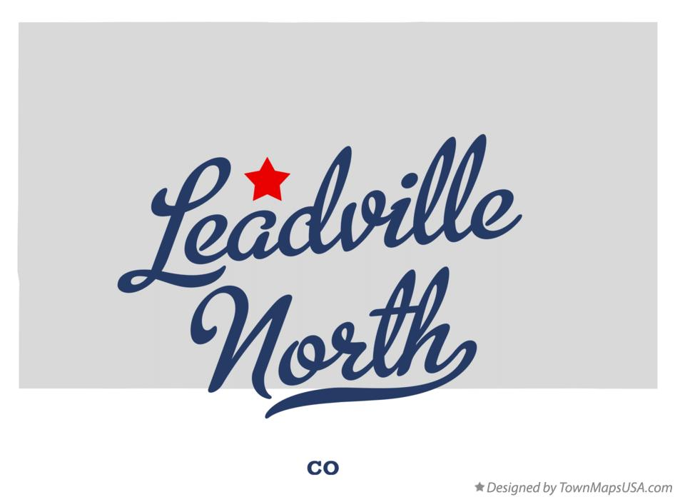 Map of Leadville North Colorado CO