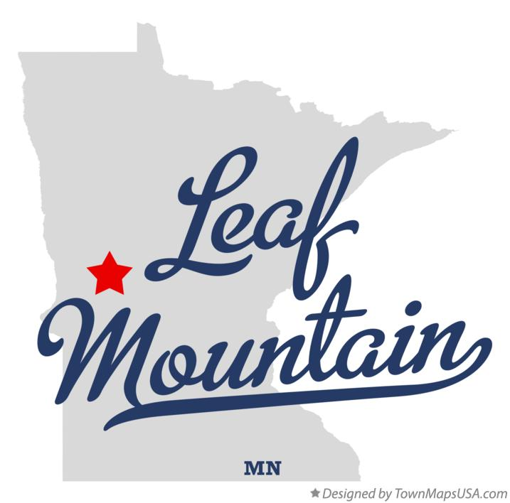 Map of Leaf Mountain Minnesota MN