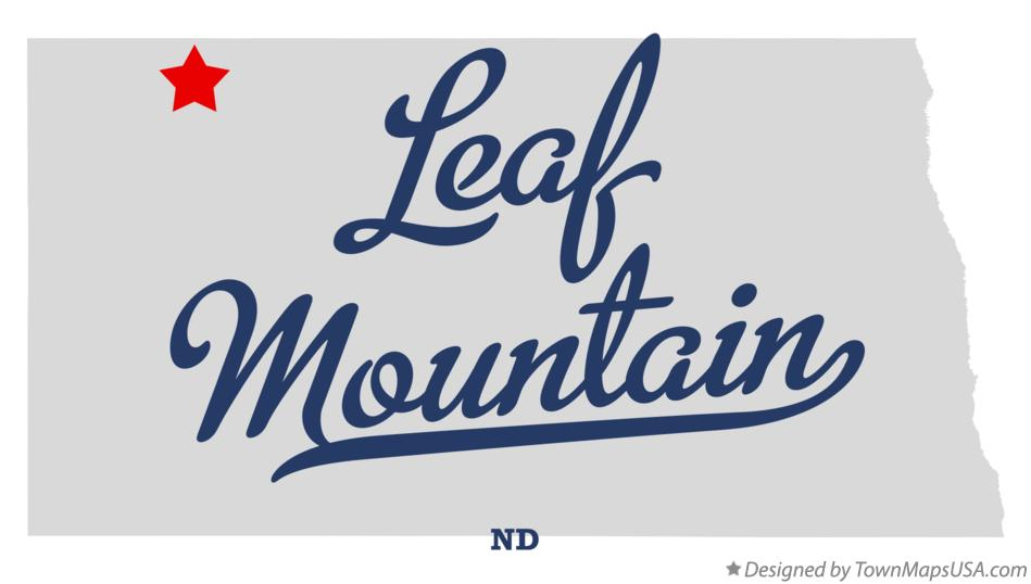 Map of Leaf Mountain North Dakota ND