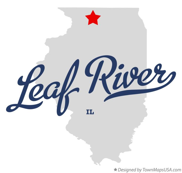 Map of Leaf River Illinois IL