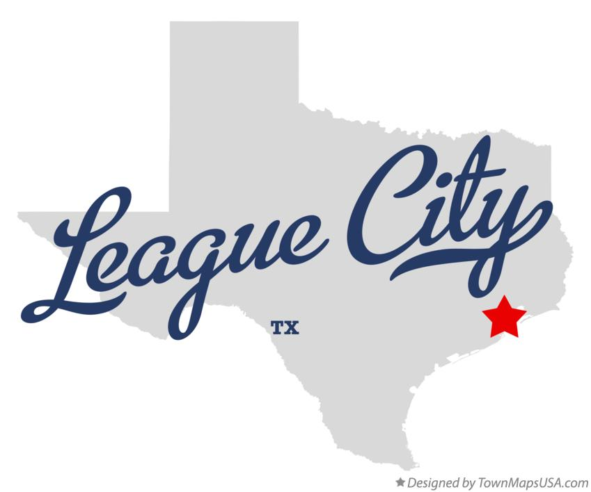 Map of League City Texas TX