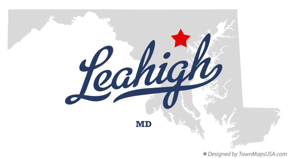 Map of Leahigh Maryland MD