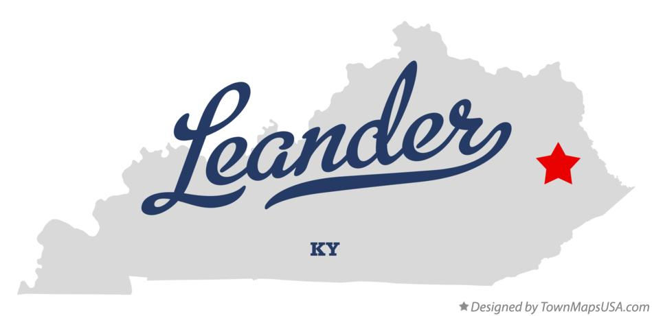 Map of Leander Kentucky KY