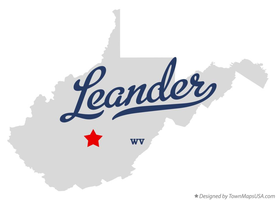 Map of Leander West Virginia WV