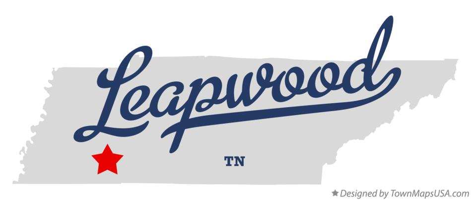 Map of Leapwood Tennessee TN