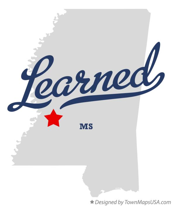 Map of Learned Mississippi MS