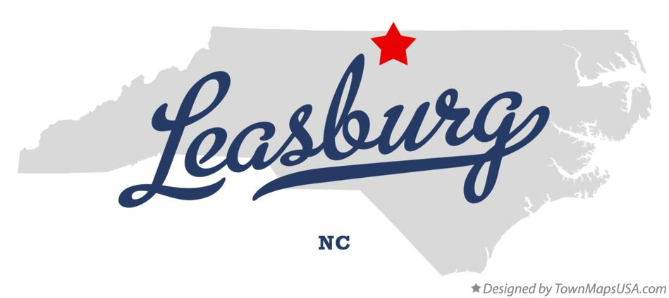 Map of Leasburg North Carolina NC