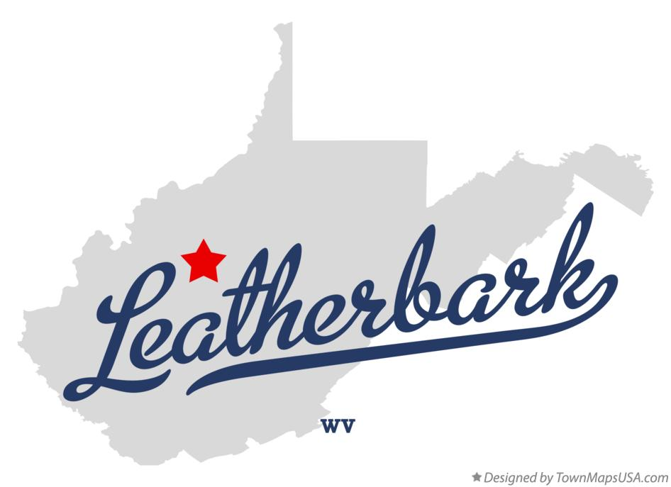 Map of Leatherbark West Virginia WV