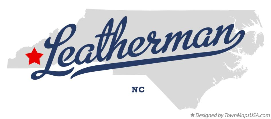 Map of Leatherman North Carolina NC