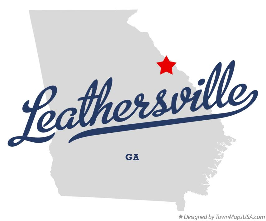 Map of Leathersville Georgia GA