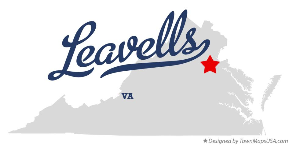 Map of Leavells Virginia VA