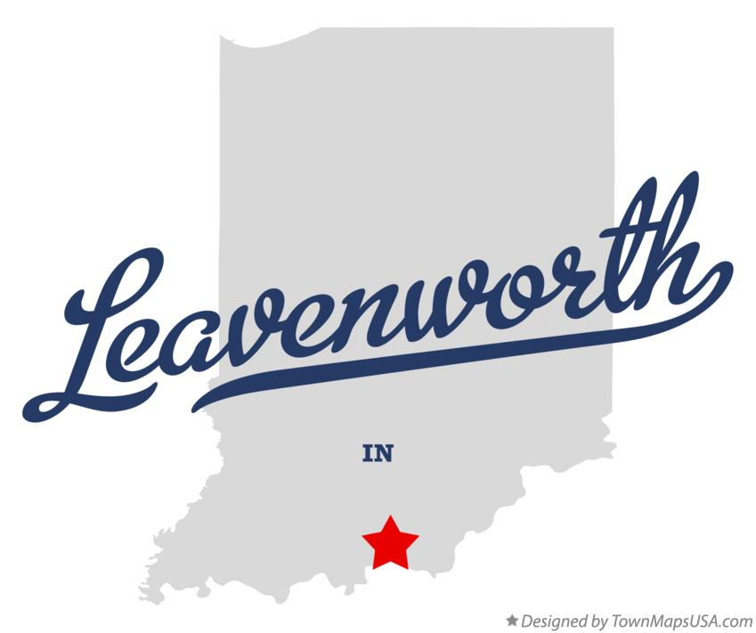 Map of Leavenworth Indiana IN