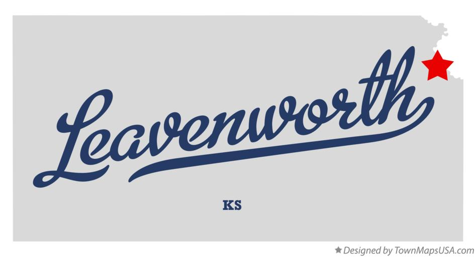 Map of Leavenworth Kansas KS