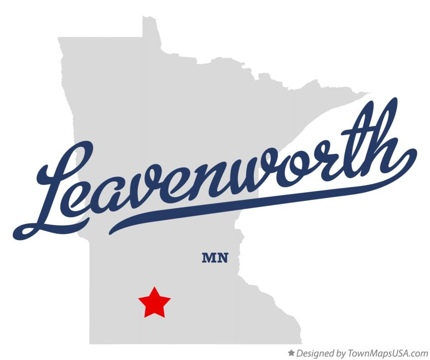 Map of Leavenworth Minnesota MN