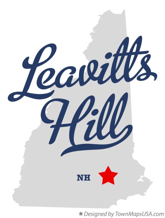 Map of Leavitts Hill New Hampshire NH
