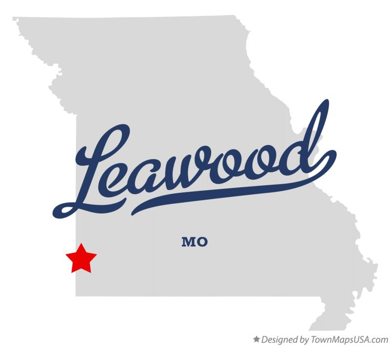Map of Leawood Missouri MO