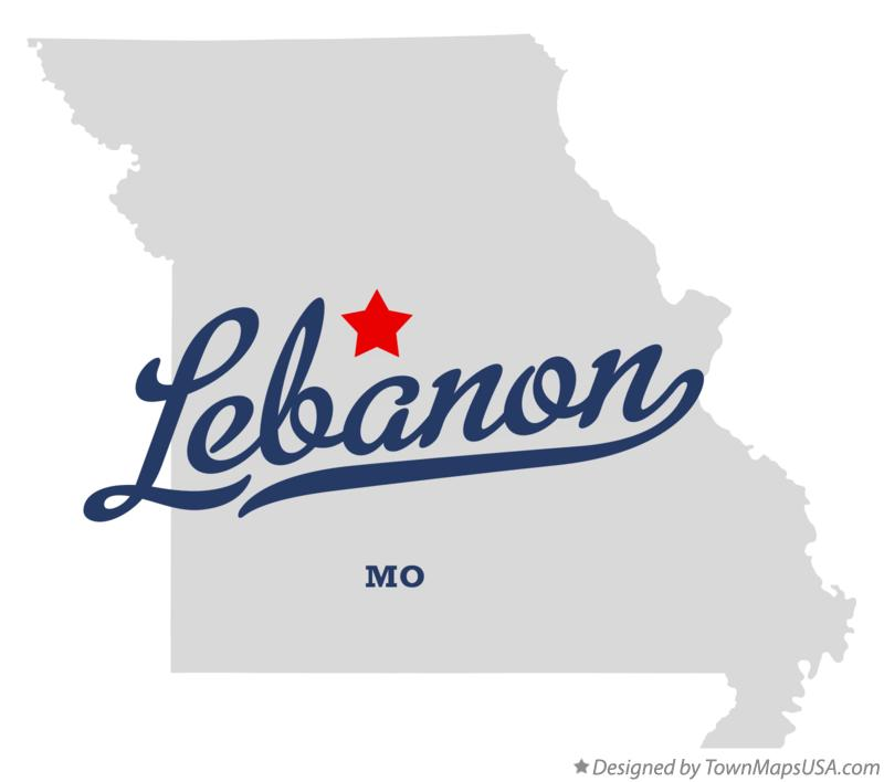 Map of Lebanon Missouri MO