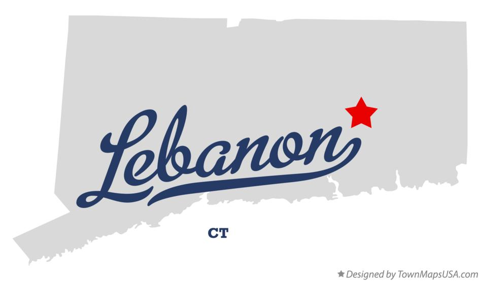 Map of Lebanon Connecticut CT