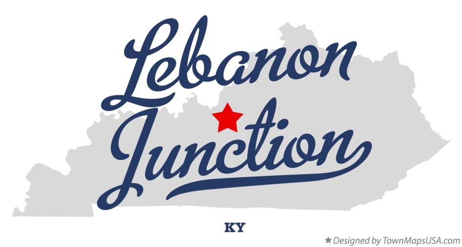 Map of Lebanon Junction Kentucky KY