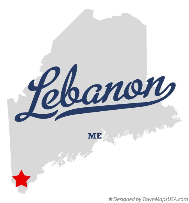 Map of Lebanon Maine ME