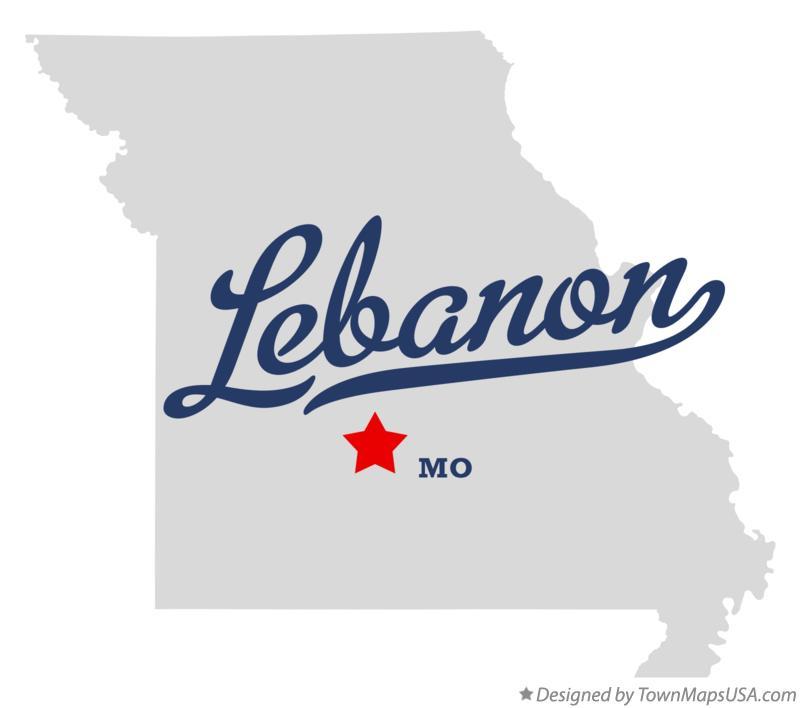 Map of lebanon laclede county mo missouri map of lebanon missouri mo sciox Image collections