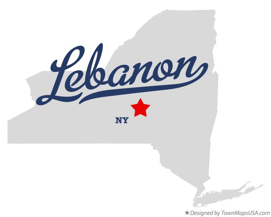 Map of Lebanon New York NY