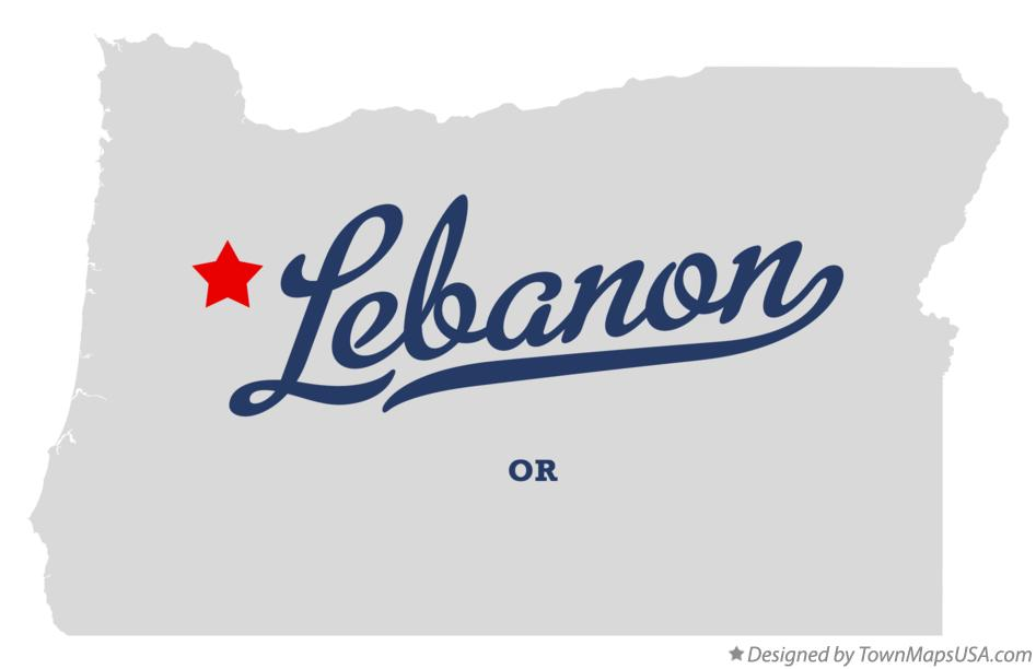 Map of Lebanon Oregon OR
