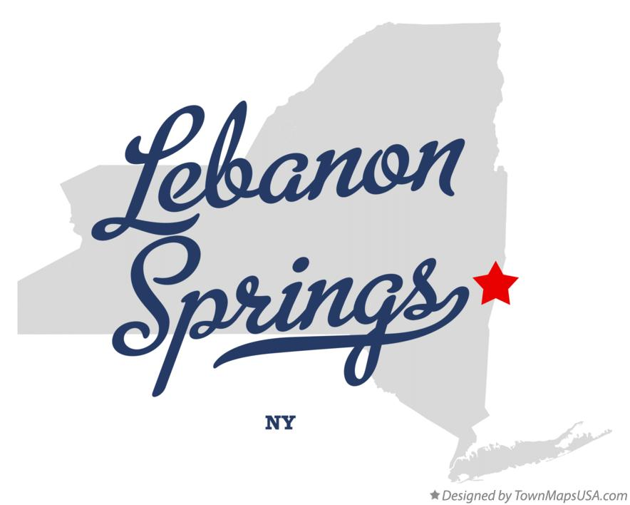 Map of Lebanon Springs New York NY