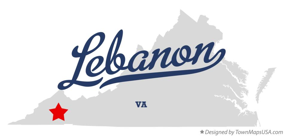 Map of Lebanon Virginia VA