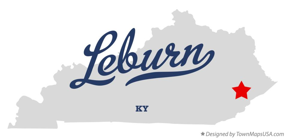 Map of Leburn Kentucky KY