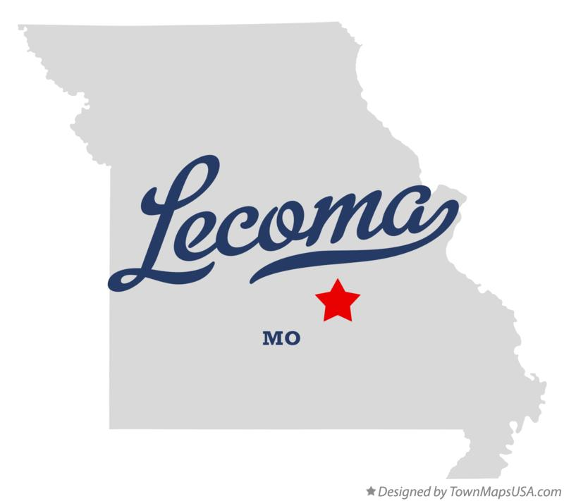 Map of Lecoma Missouri MO