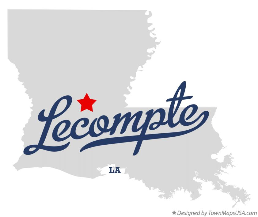 Map of Lecompte Louisiana LA