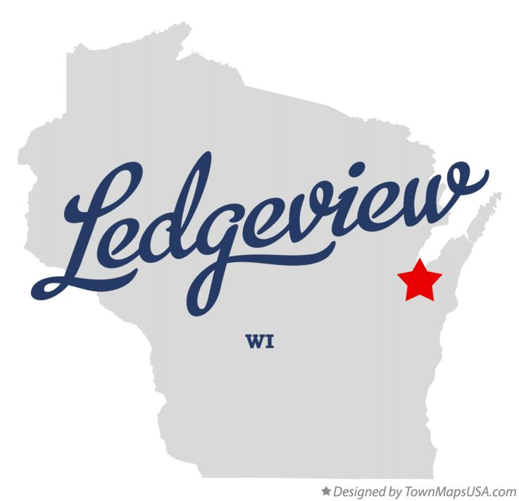 Map of Ledgeview Wisconsin WI