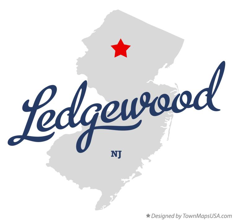 Map of Ledgewood New Jersey NJ