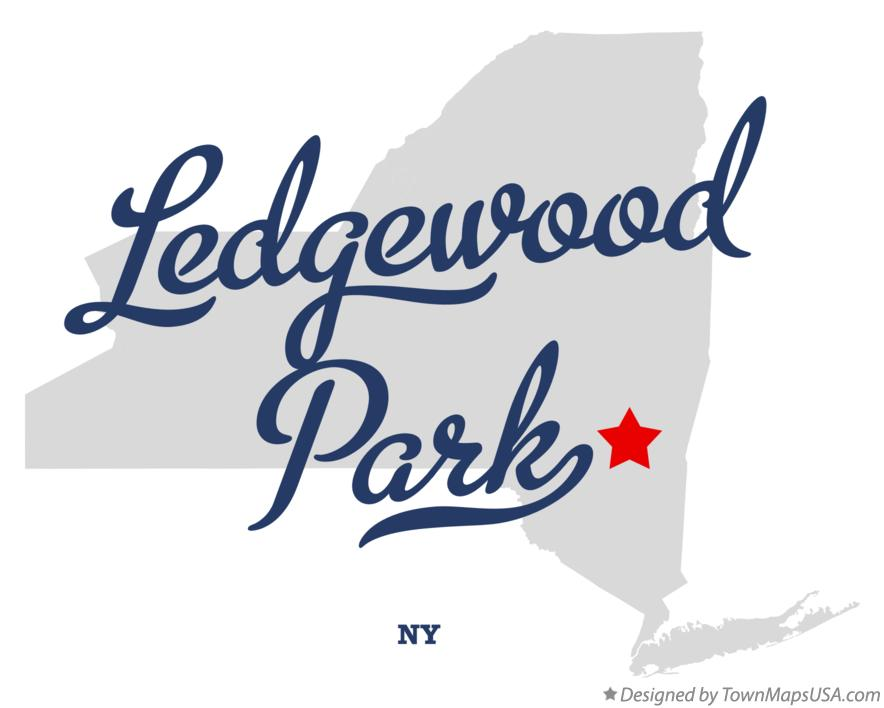 Map of Ledgewood Park New York NY
