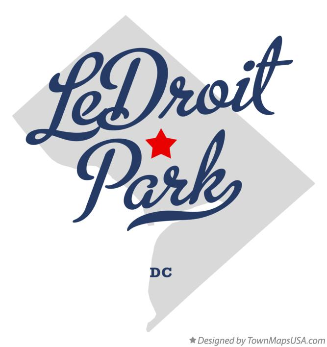 Map of LeDroit Park District Of Columbia DC