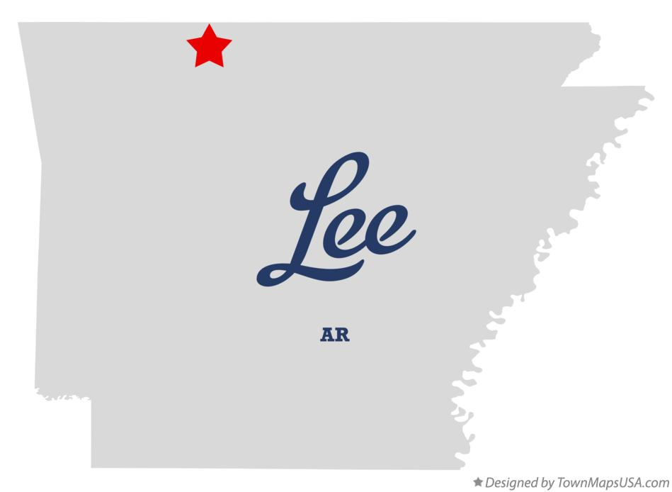 Map of Lee Arkansas AR