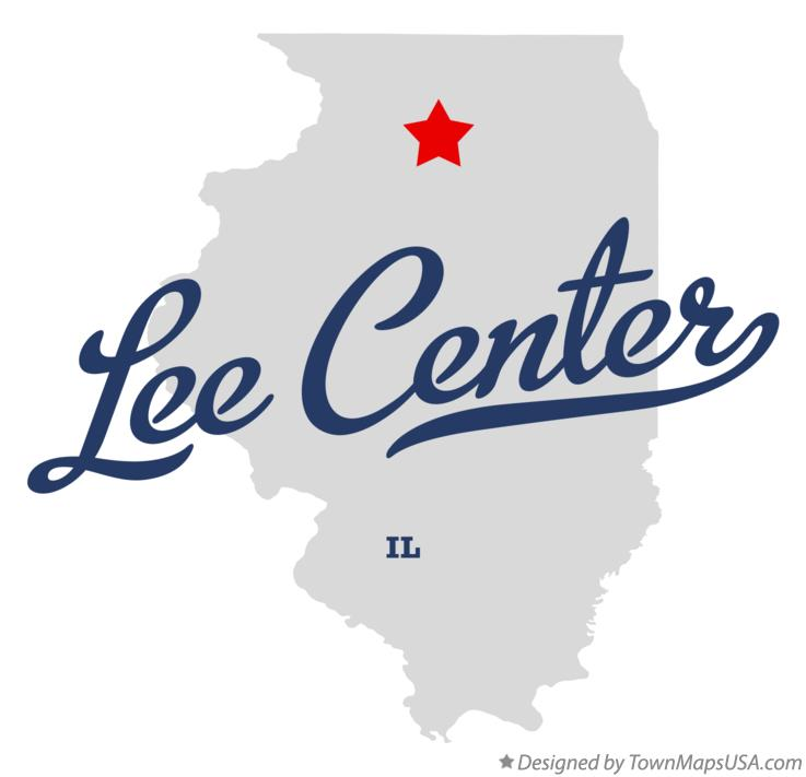 Map of Lee Center Illinois IL