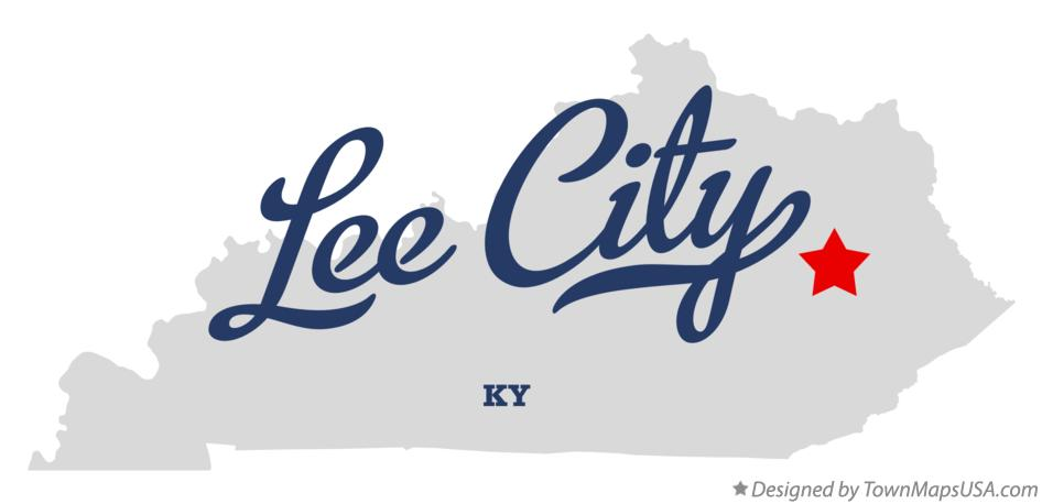 Map of Lee City Kentucky KY
