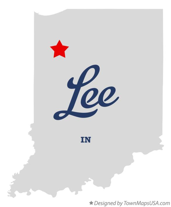 Map of Lee Indiana IN