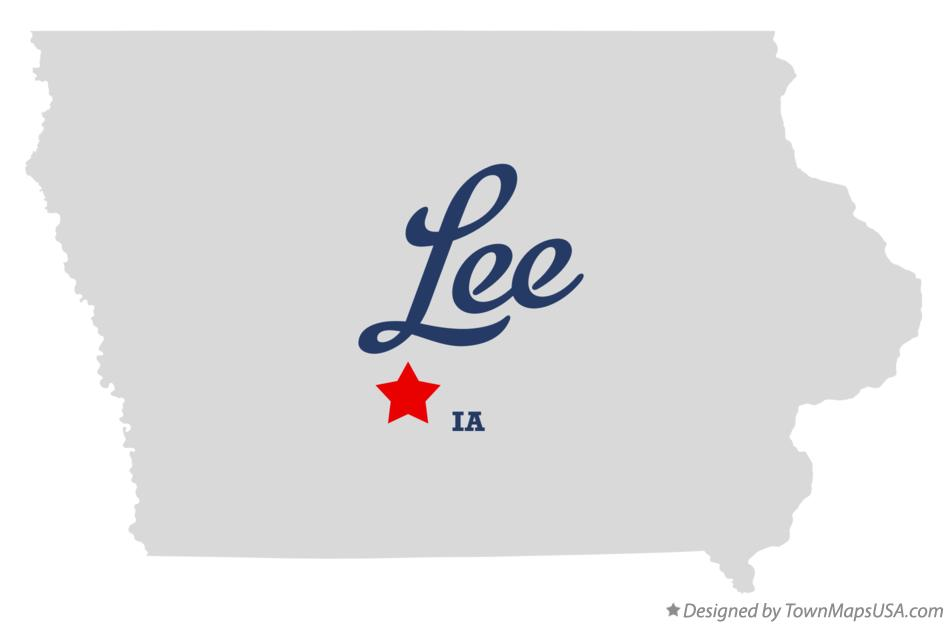 Map of Lee Iowa IA