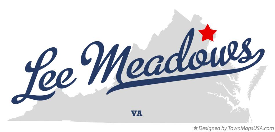 Map of Lee Meadows Virginia VA